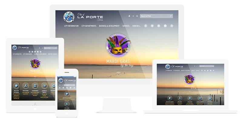 Municipal website design - La Porte, TX