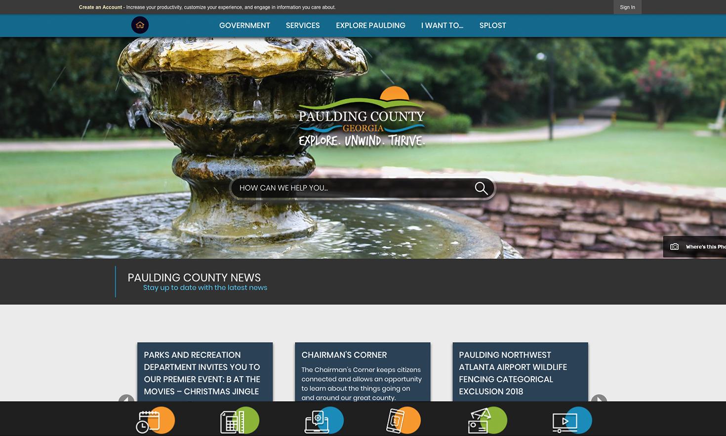 Paulding County VA Award Winning Website