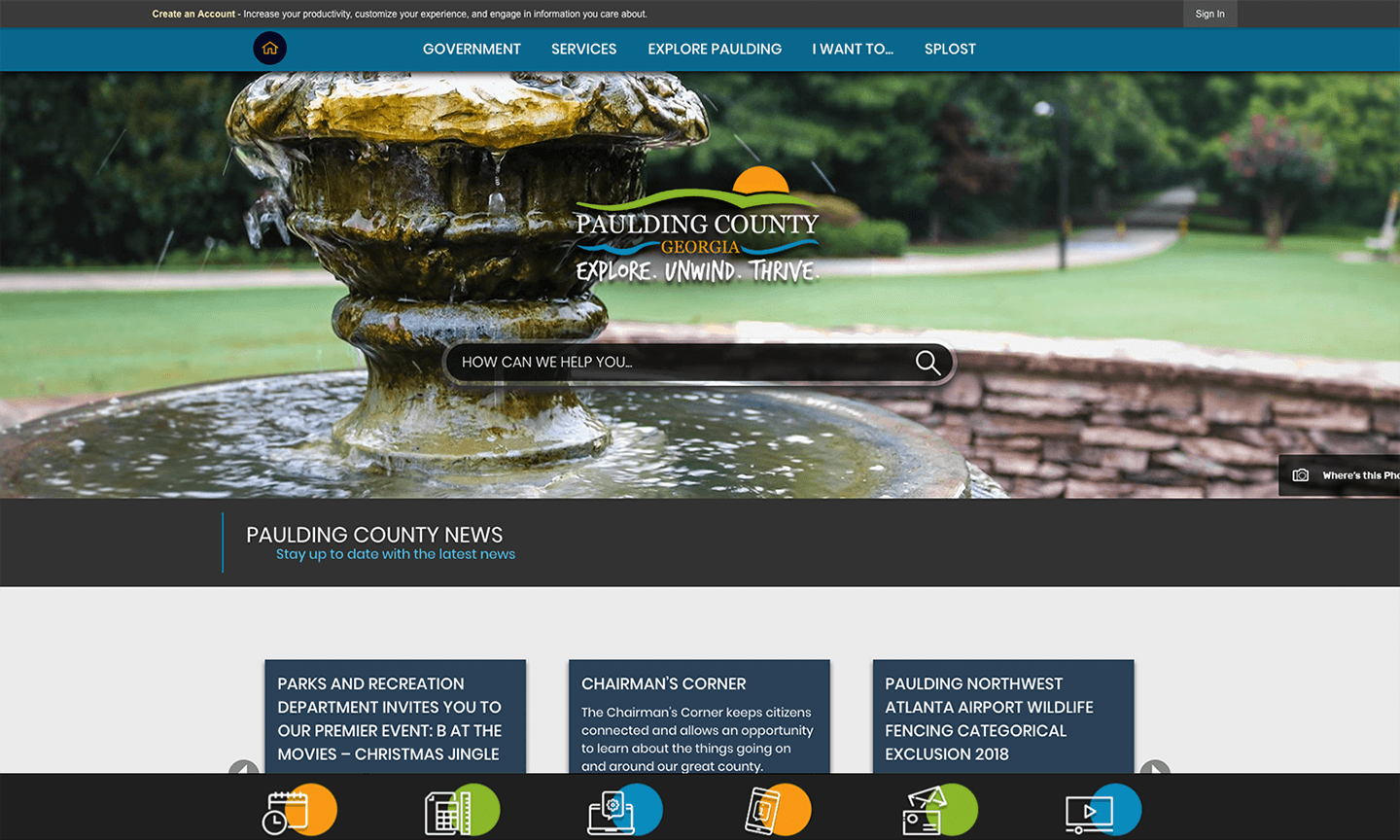 Paulding County VA Award Winning Website