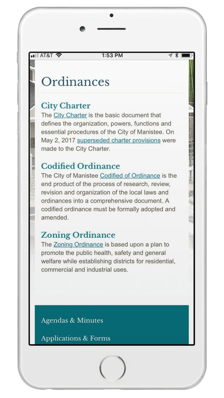 Manistee, Michigan Redesigns City Website with its Partner, CivicPlus_Ordinances_crop.png