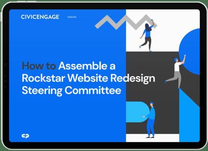 CivicEngage Website Steering Committee eBook ipad