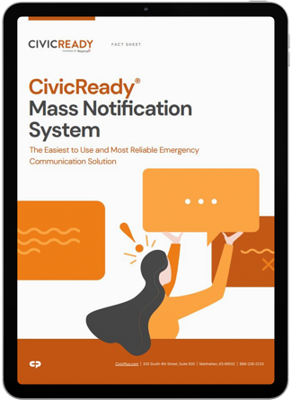 CivicReady Fact Sheet in iPad