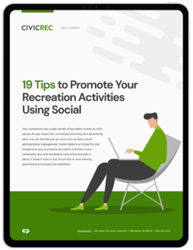 CivicRec_19 Promotion Tips Using Social_Image