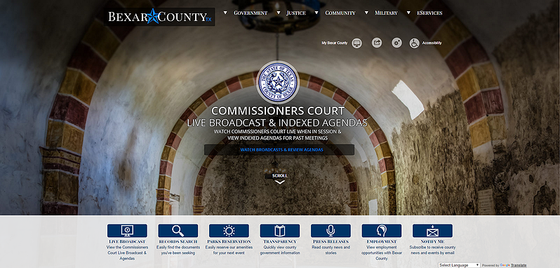 Best of the Web Award Finalist Bexar County TX CivicPlus Government Website Award.png