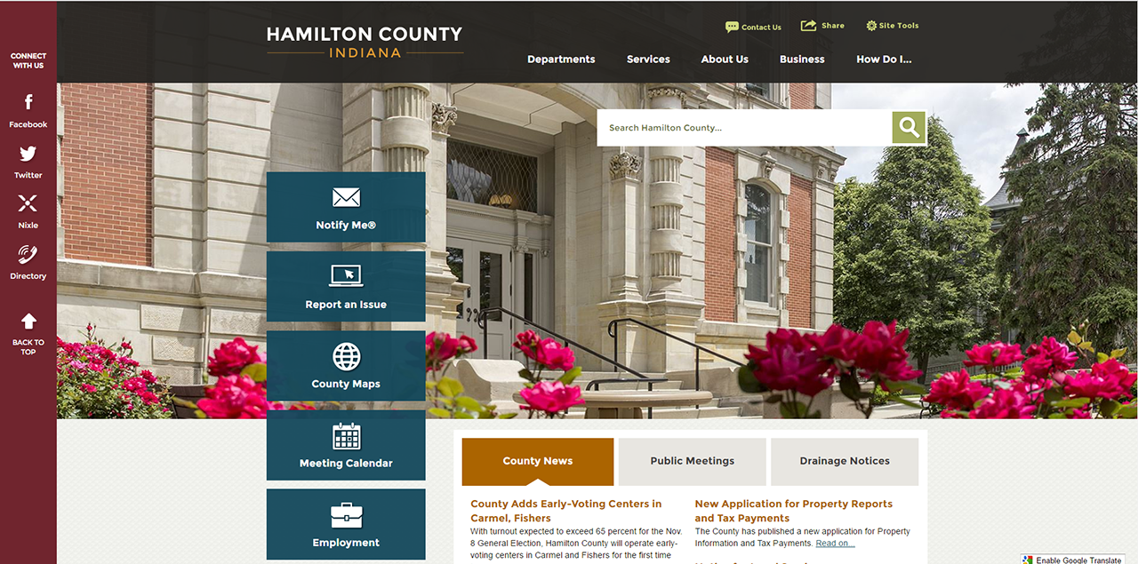Best of the Web Award Finalist Hamilton County IN CivicPlus Government Website Award.png