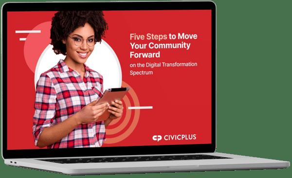Digital Transformation eBook in macbook
