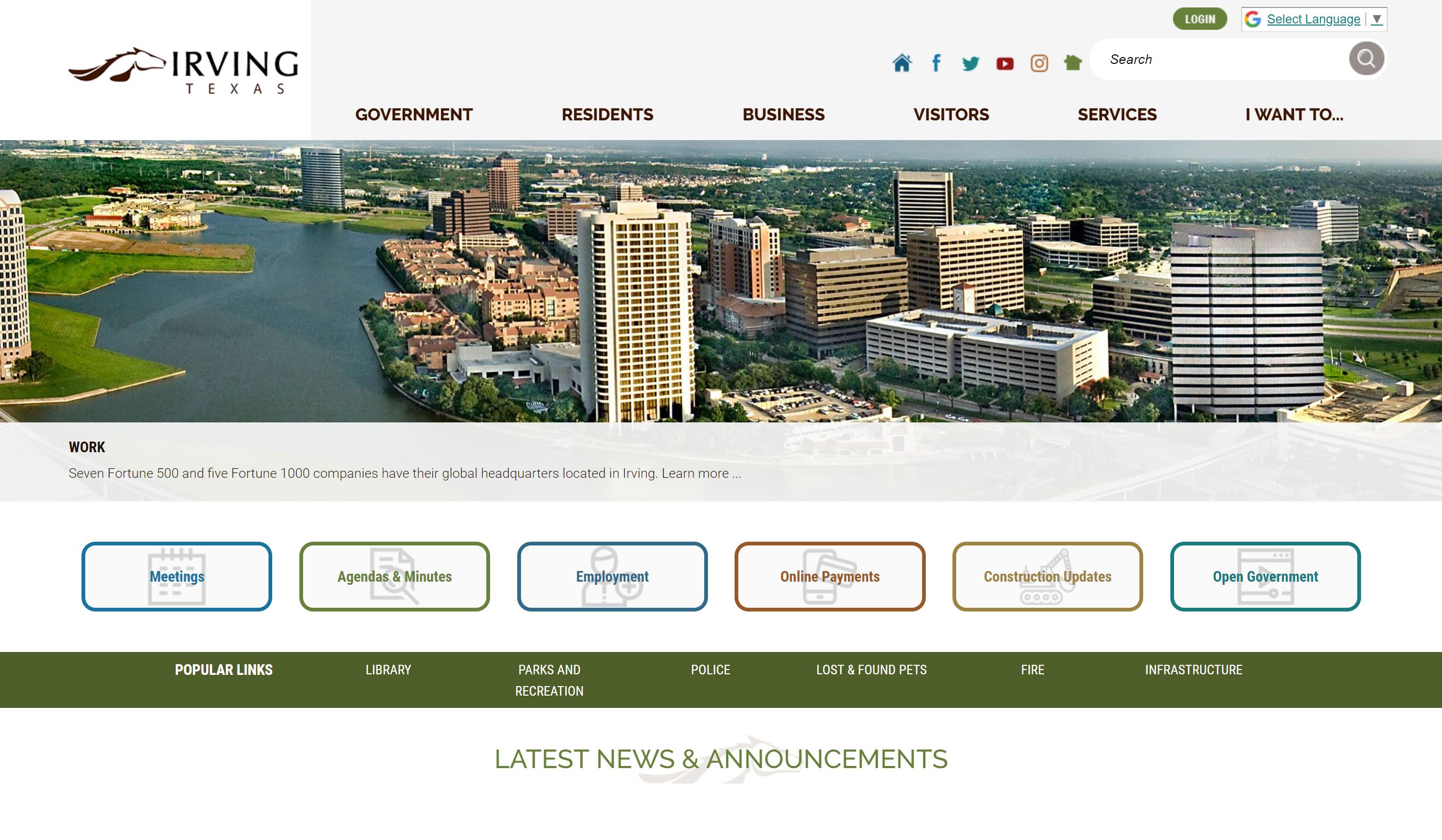 Irving_TX_City_Website_Award_CivicPlus
