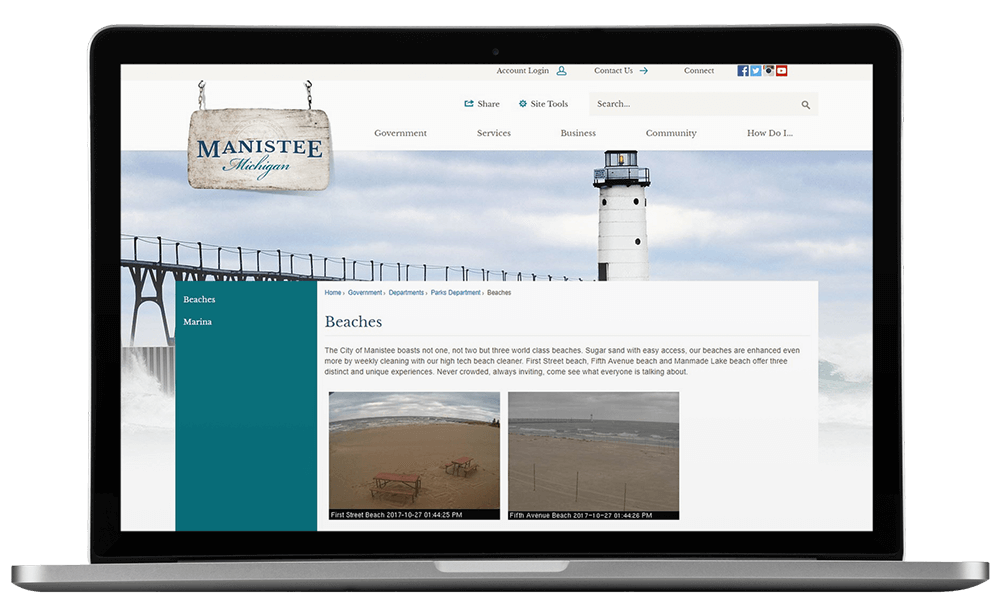 Manistee, Michigan Redesigns City Website with its Partner, CivicPlus_Beach_Cam.png