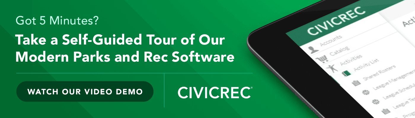 Sign up for a demonstration of CivicRec