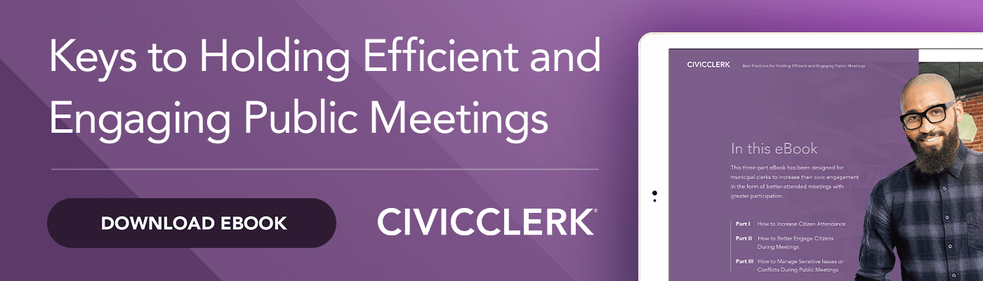 eBook: Keys to Holding Efficient an Engaging Public Meetings
