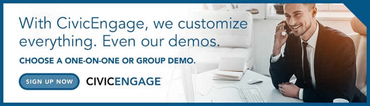 Sign up for a demonstration of the CivicEngage government content management system
