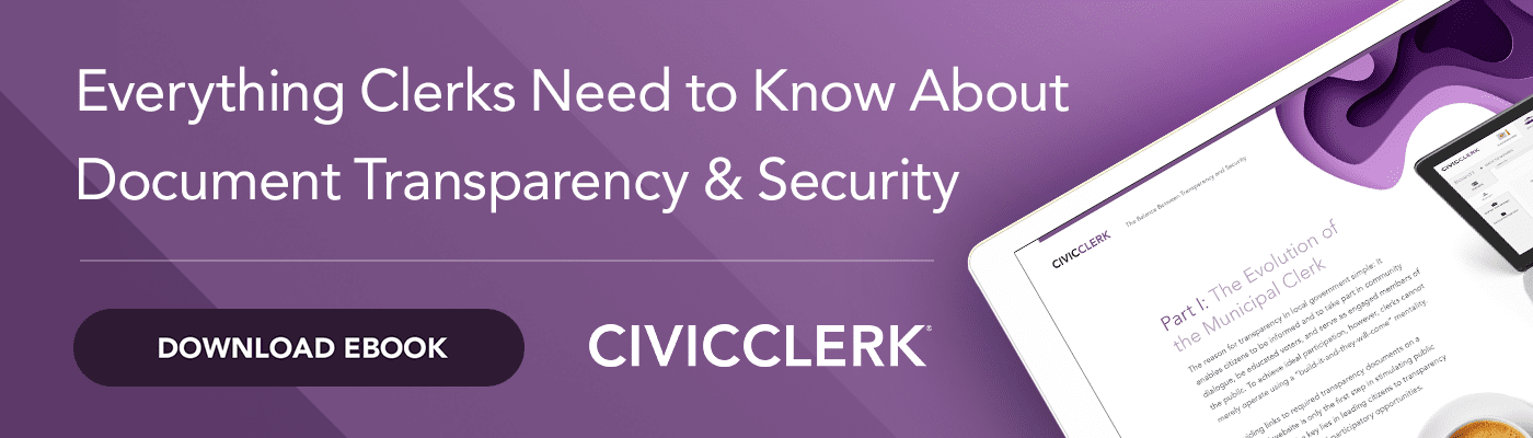 Document Transparency & Security eBook for Local Government Clerks