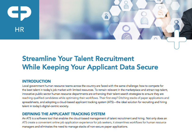 Streamline Talent Recruitment While Keeping Applicant Data Secure