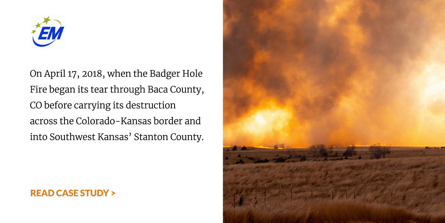 Manter, Kansas Wildfire Case Study. Read More >