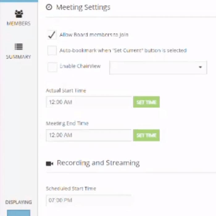 Broadcast meetings live