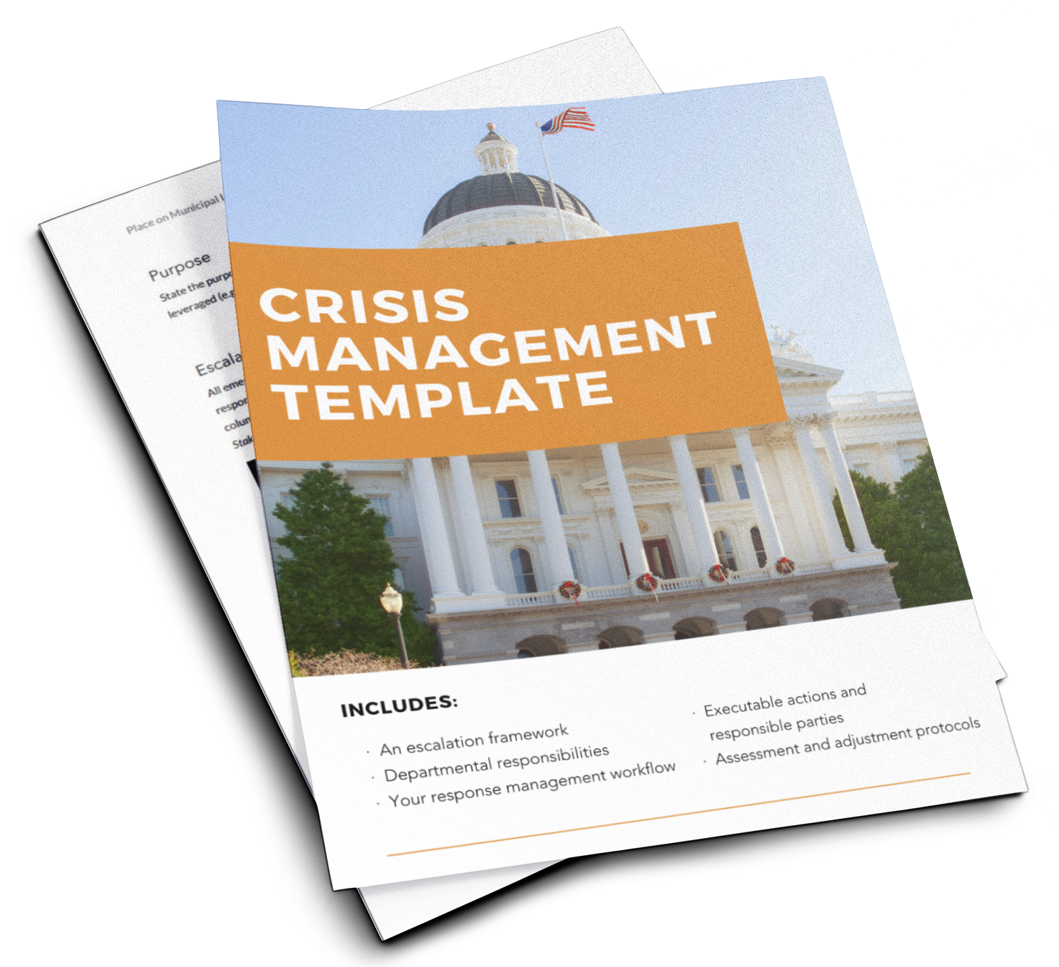 Crisis management template flyer image-1